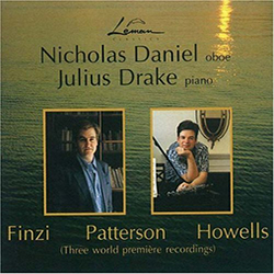 Finzi; Howells; Patterson – Works for Oboe and Piano